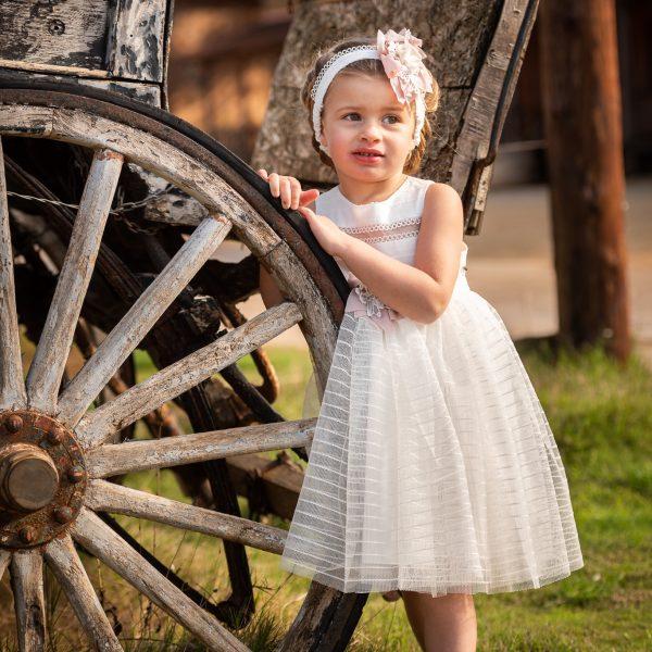 Φόρεμα μεσάτο με βαμβακερό μπούστο