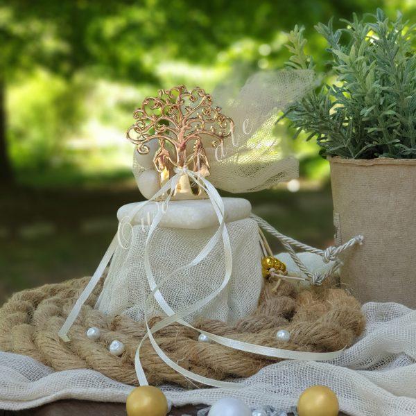 Μπομπονιέρα γάμου δέντρο ζωής σε μάρμαρο